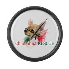 Chihuahua RESCUE Large Wall Clock