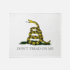 Don't Tread On Me Snake Throw Blanket