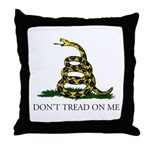 Don't Tread On Me Snake Throw Pillow