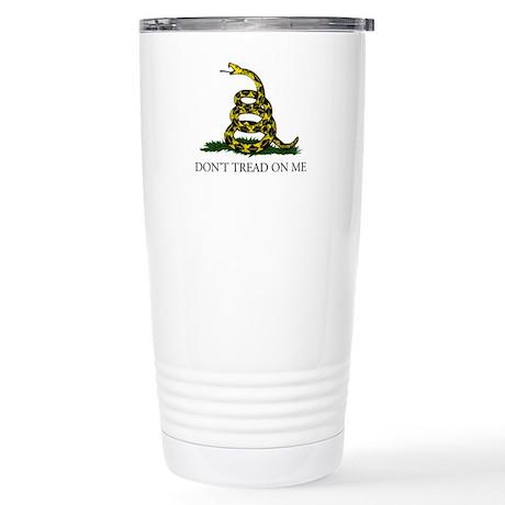 Don't Tread On Me Snake Stainless Steel Travel Mug