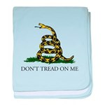 Don't Tread On Me Snake baby blanket
