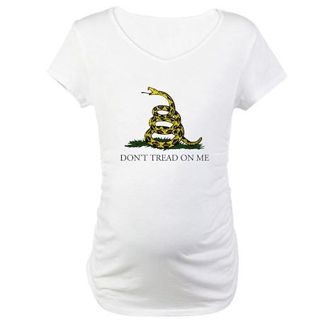 Don't Tread On Me Snake Maternity T-Shirt