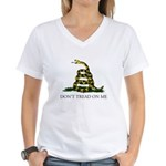 Don't Tread On Me Snake Women's V-Neck T-Shirt