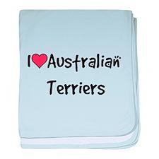 I heart Australian Terriers baby blanket