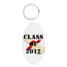 Class of 2012 Aluminum Oval Keychain