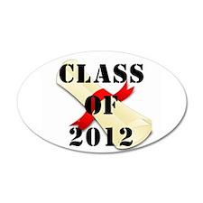 Class of 2012 22x14 Oval Wall Peel