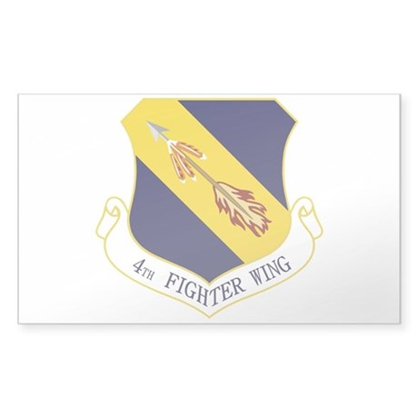 4th Fighter Wing Sticker (Rectangle)