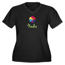 Nadia Valentine Flower Women's Plus Size V-Neck Da