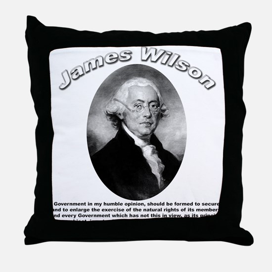 James Wilson 01 Throw Pillow