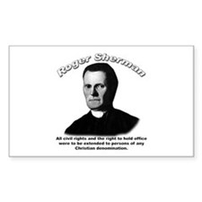 Roger Sherman 01 Rectangle Decal