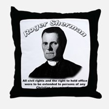 Roger Sherman 01 Throw Pillow