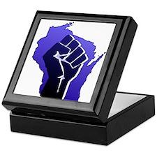 Wisconsin Solidarity Blue Fis Keepsake Box