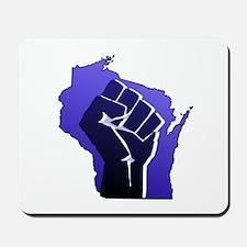 Wisconsin Solidarity Blue Fis Mousepad