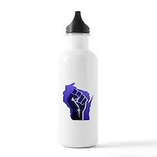 Wisconsin Solidarity Blue Fis Water Bottle