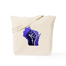 Wisconsin Solidarity Blue Fis Tote Bag