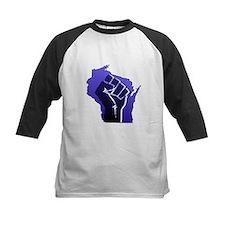 Wisconsin Solidarity Blue Fis Tee