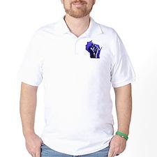 Wisconsin Solidarity Blue Fis T-Shirt