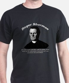 Roger Sherman 01 Black T-Shirt