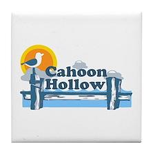 """Cahoon Beach """"Pier"""" Design. Tile Coaster"""