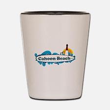 """Cahoon Beach """"Surf"""" Design. Shot Glass"""