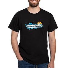 "Cahoon Beach ""Surf"" Design. T-Shirt"