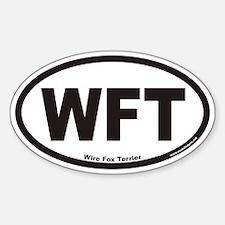 Wire Fox Terrier WFT Euro Oval Bumper Stickers