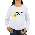 Guitar Face Women's Long Sleeve T-Shirt