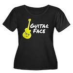 Guitar Face Women's Plus Size Scoop Neck Dark T-Sh