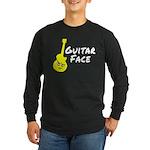 Guitar Face Long Sleeve Dark T-Shirt