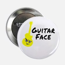 "Guitar Face 2.25"" Button"