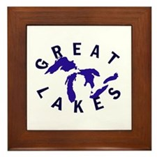 Great Lakes shirts, stickers, Framed Tile