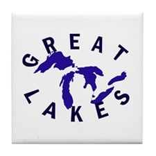 Great Lakes shirts, stickers, Tile Coaster