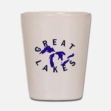 Great Lakes shirts, stickers, Shot Glass