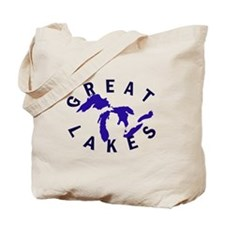 Great Lakes shirts, stickers, Tote Bag
