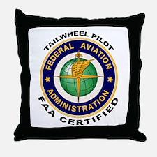 Tailwheel Pilot Throw Pillow