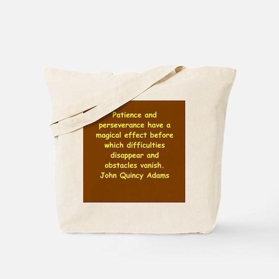 john quincy adams Tote Bag