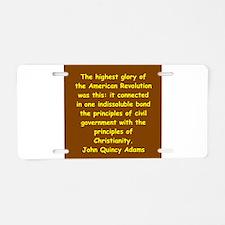 john quincy adams Aluminum License Plate