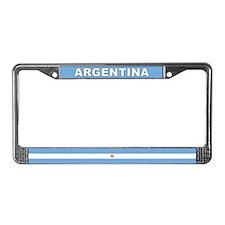 Argentina World Flag License Plate Frame