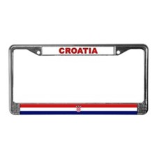 Croatia World Flag License Plate Frame