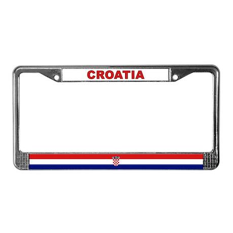 Croatia World Flag License Plate Frame