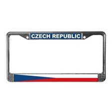 Czech Republic World Flag License Plate Frame