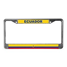Ecuador World Flag License Plate Frame
