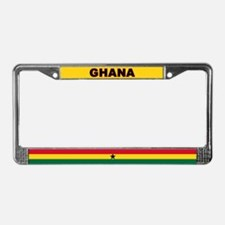 Ghana World Flag License Plate Frame