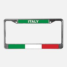 Italy World Flag License Plate Frame