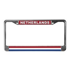 Netherlands World Flag License Plate Frame