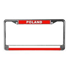 Poland World Flag License Plate Frame