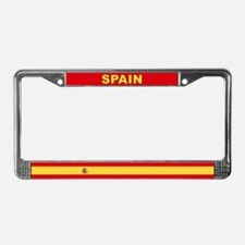 Spain World Flag License Plate Frame