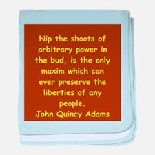 john quincy adams baby blanket