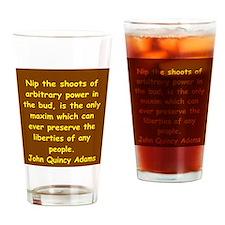 john quincy adams Drinking Glass