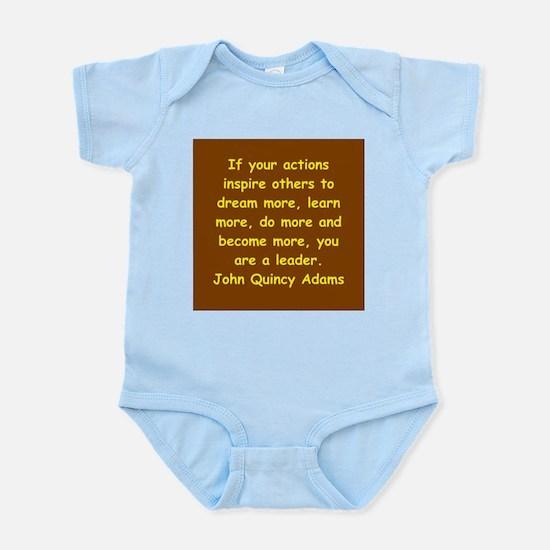 john quincy adams Infant Bodysuit